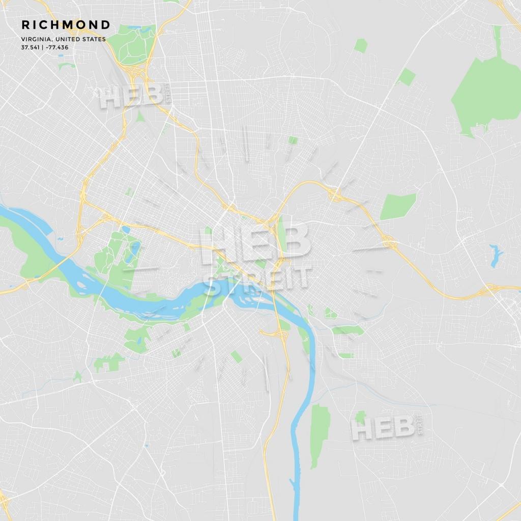 Printable Street Map Of Richmond, Virginia | Hebstreits Sketches - Printable Map Of Richmond Va