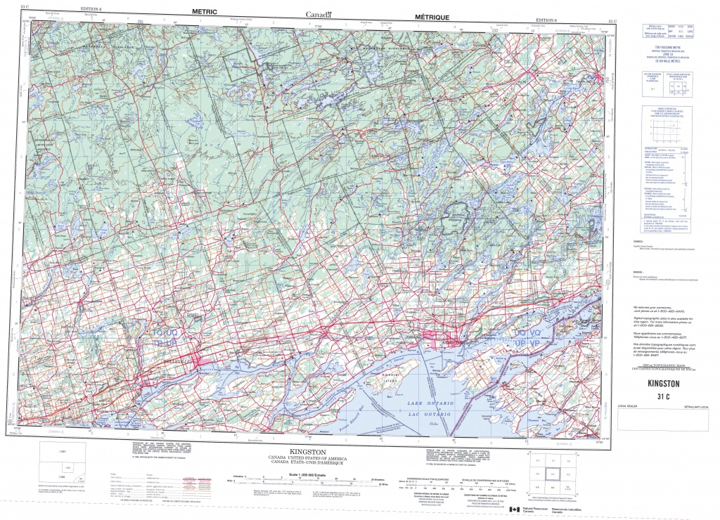 Printable Topographic Map Of Kingston 031C, On - Free Printable Topo Maps Online