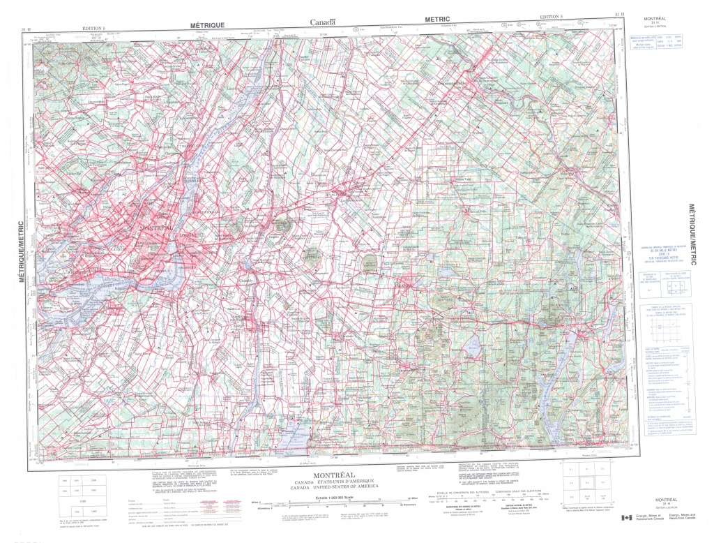 Printable Topographic Map Of Montreal 031H, Qc - Topographic Map Printable