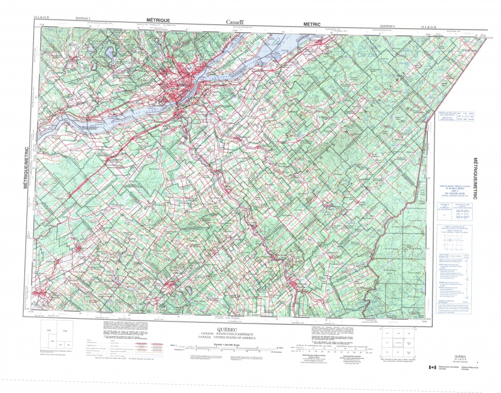 Printable Topographic Map Of Quebec 021L, Qc - Printable Topo Maps Online