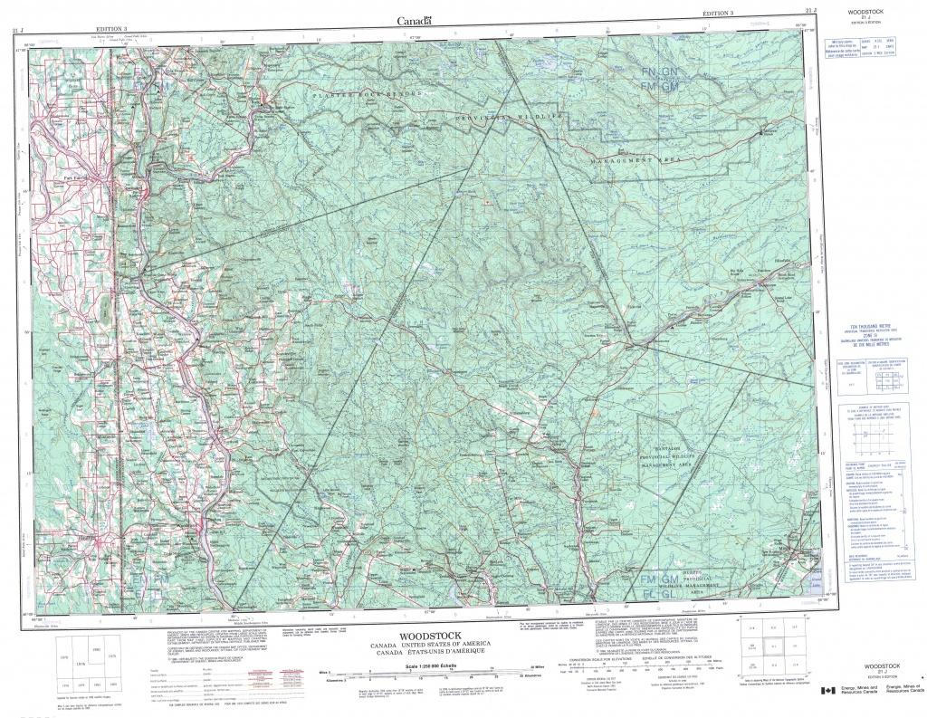 Printable Topographic Map Of Woodstock 021J, Nb - Topographic Map Printable