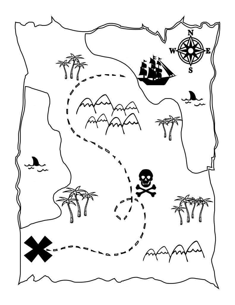Printable Treasure Map Kids Activity | Printables | Pirate Maps - Printable Kids Pirate Treasure Map