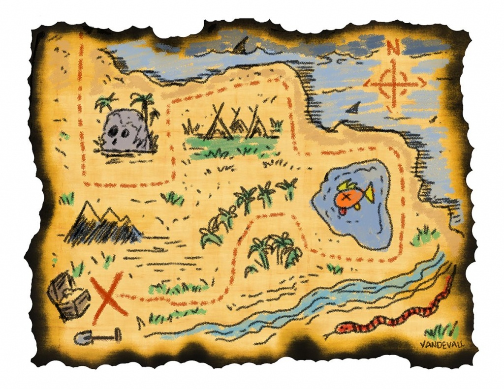 Printable Treasure Maps For Kids | Kidding Around | Treasure Maps - Pirate Treasure Map Printable