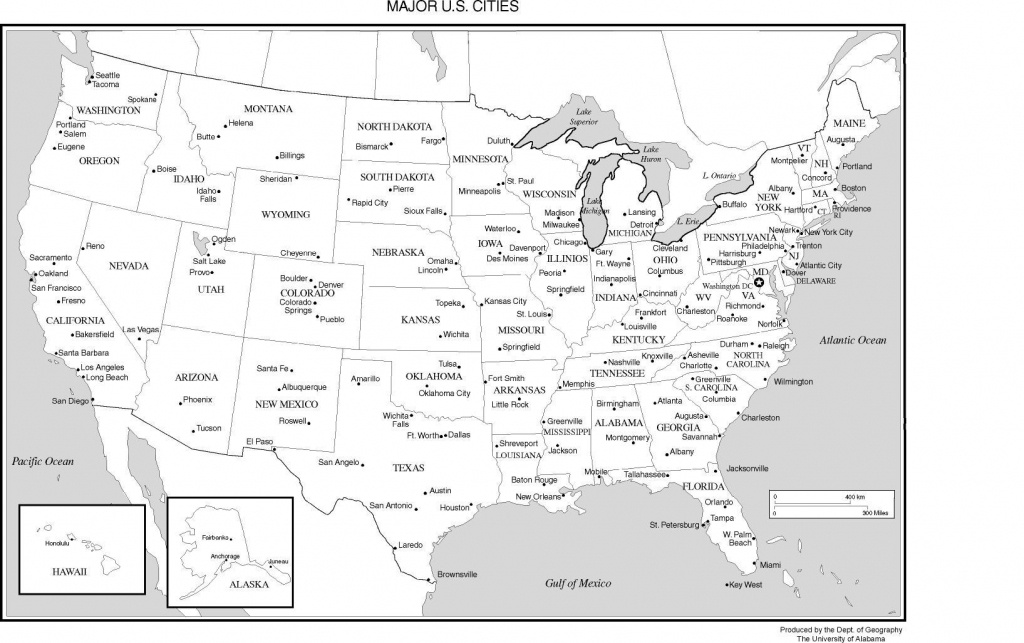 Printable Us Map With Major Cities And Travel Information | Download - Printable Map Of Usa States And Cities
