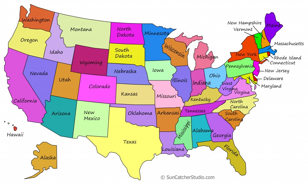 Printable Us Maps With States (Outlines Of America - United States) - Map Of The Us States Printable