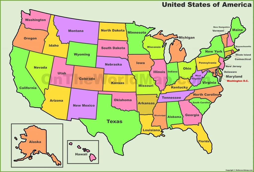 Printable Usa Map Pdf | D1Softball - Printable United States Map Pdf