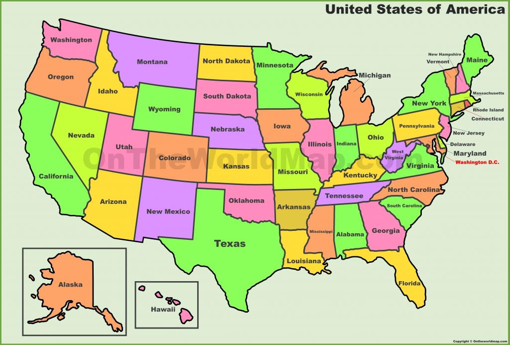 Printable Usa Map Pdf | D1Softball - Us Map Printable Pdf