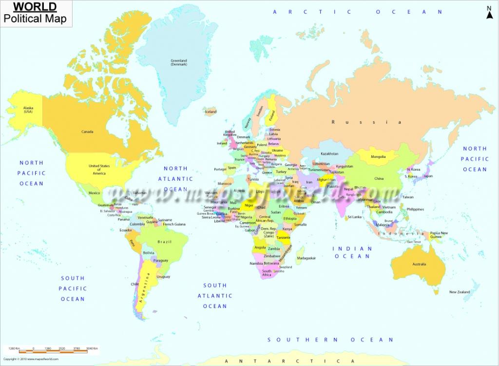 Printable World Map | B&w And Colored - World Map Printable A4