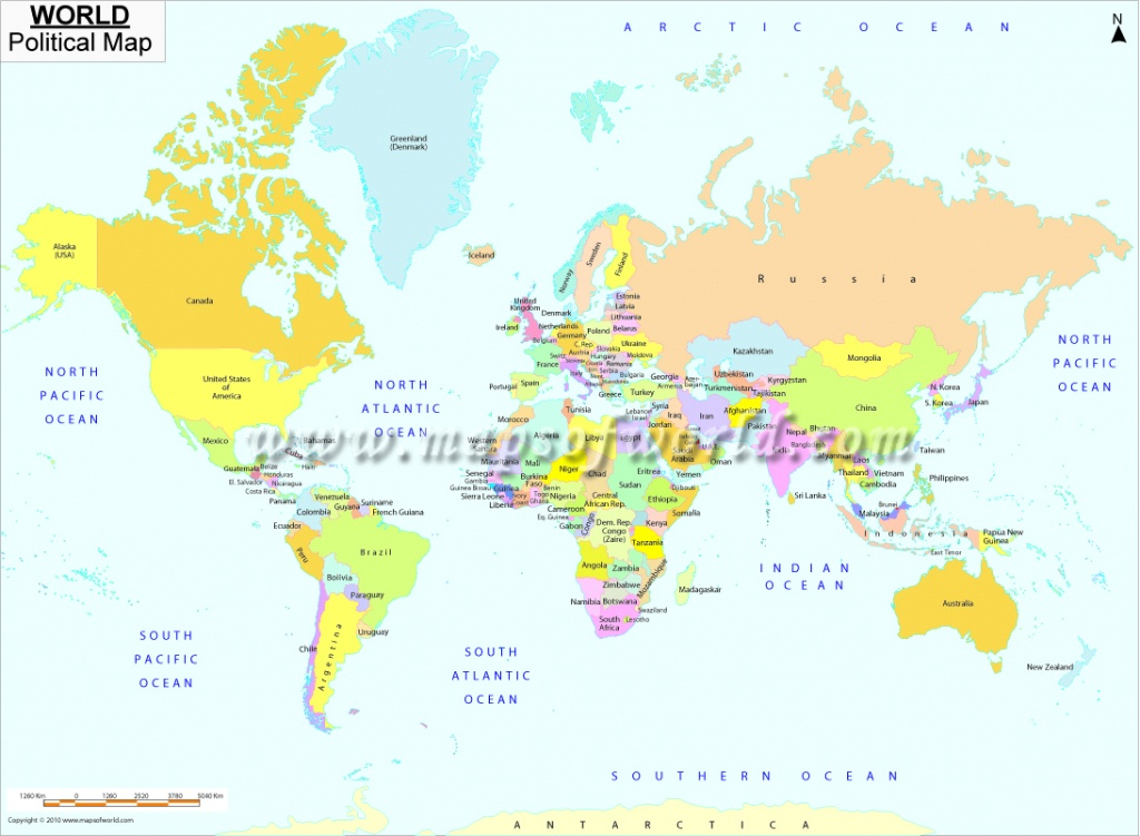 Printable World Map | B&w And Colored - World Map With Capital Cities Printable