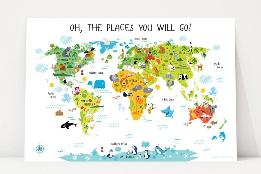 Printable World Map For Kids In 2019   Owen's Room & Montessori - Kid Friendly World Map Printable