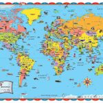 Printable World Map For Kids Incheonfair Throughout For Printable   Free Printable World Map Poster