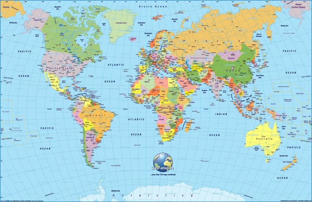 Printable World Map Large   Sitedesignco - Large Printable Maps