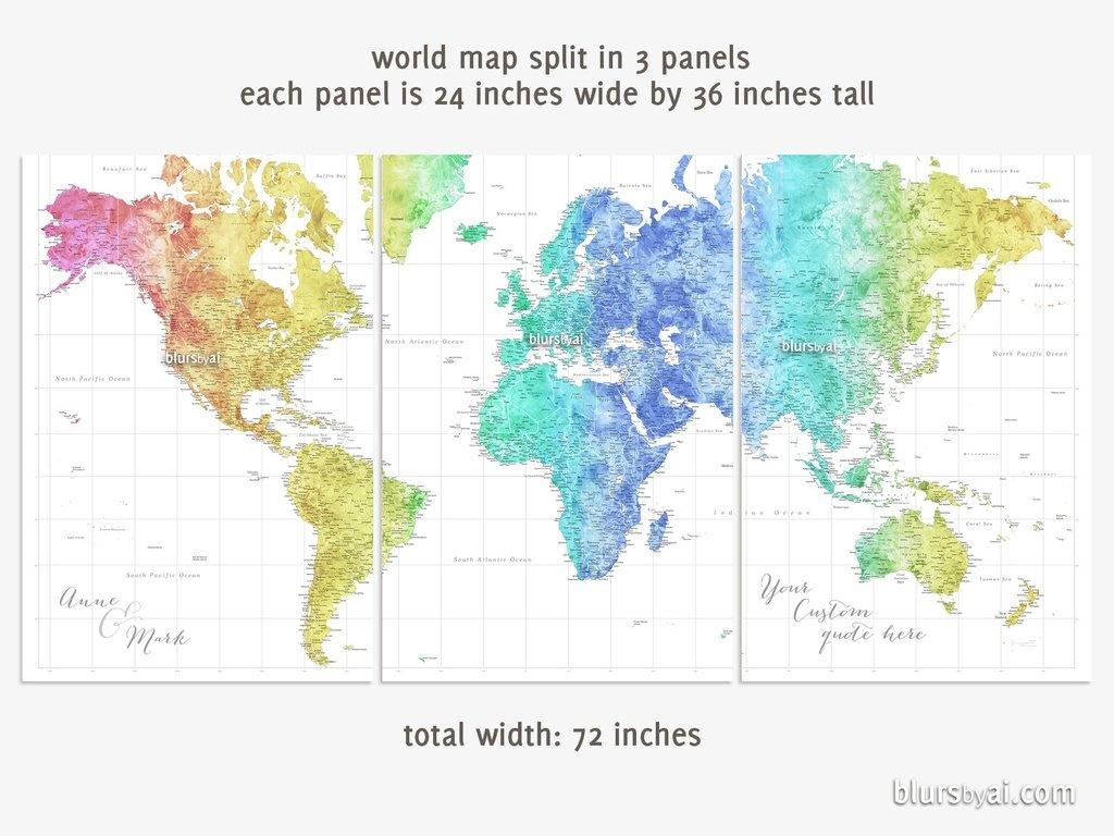 Printable World Map Poster | Sitedesignco - World Map Poster Printable