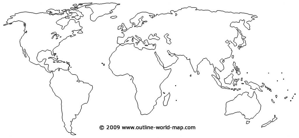 Printable World Map - World Wide Maps - Printable World Map Outline Ks2