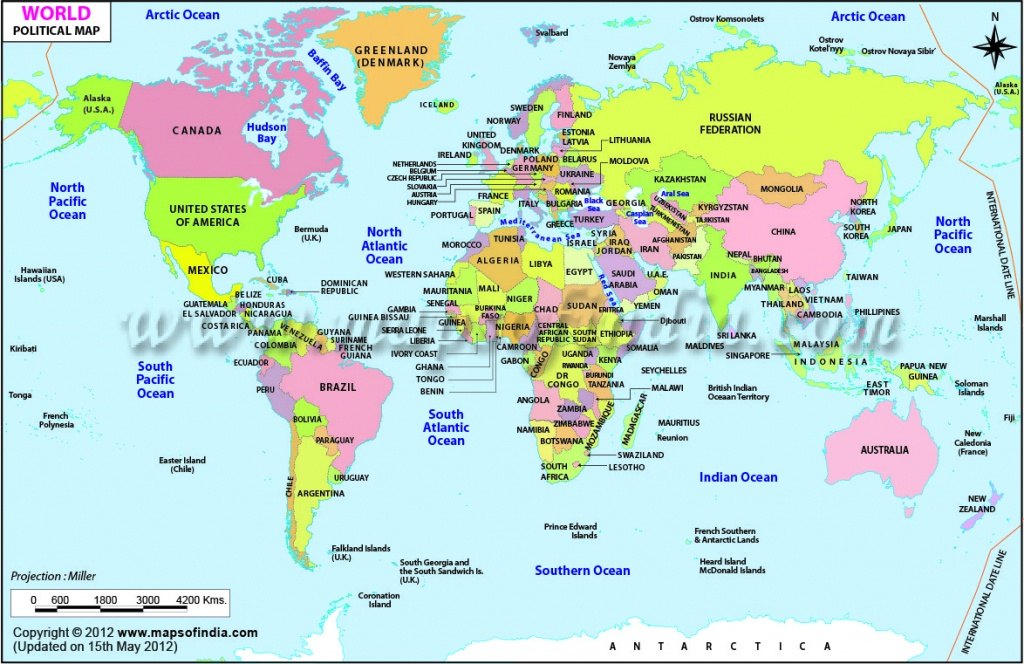 Printable World Maps - World Maps - Map Pictures - Free Printable World Map With Countries Labeled For Kids