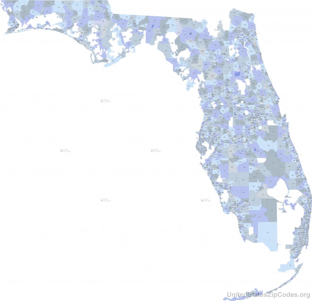 Printable Zip Code Maps - Free Download - Florida Zip Code Map