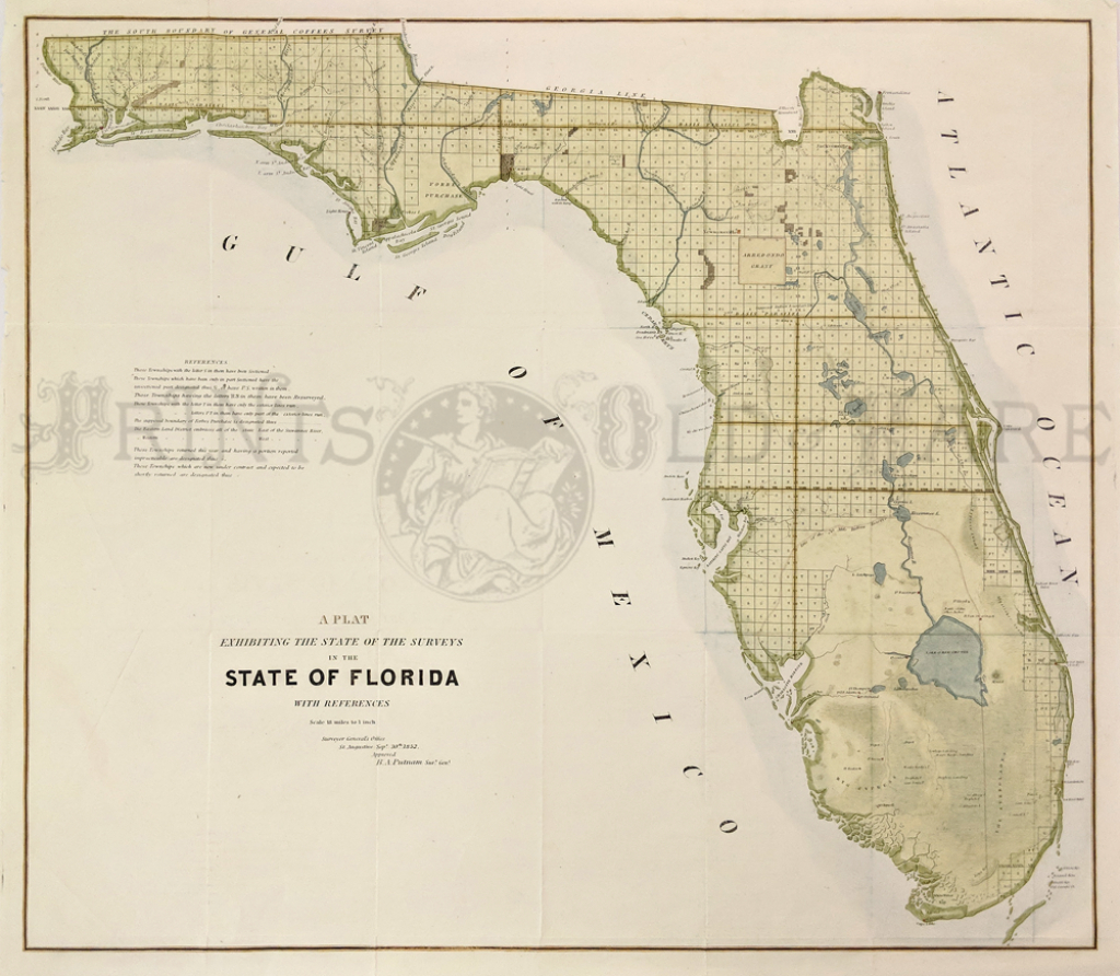 Prints Old & Rare - Florida - Antique Maps & Prints - Antique Florida Map
