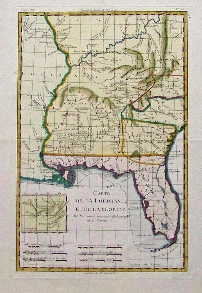 Prints Old & Rare - Louisiana - Antique Maps & Prints - Old Florida Maps For Sale