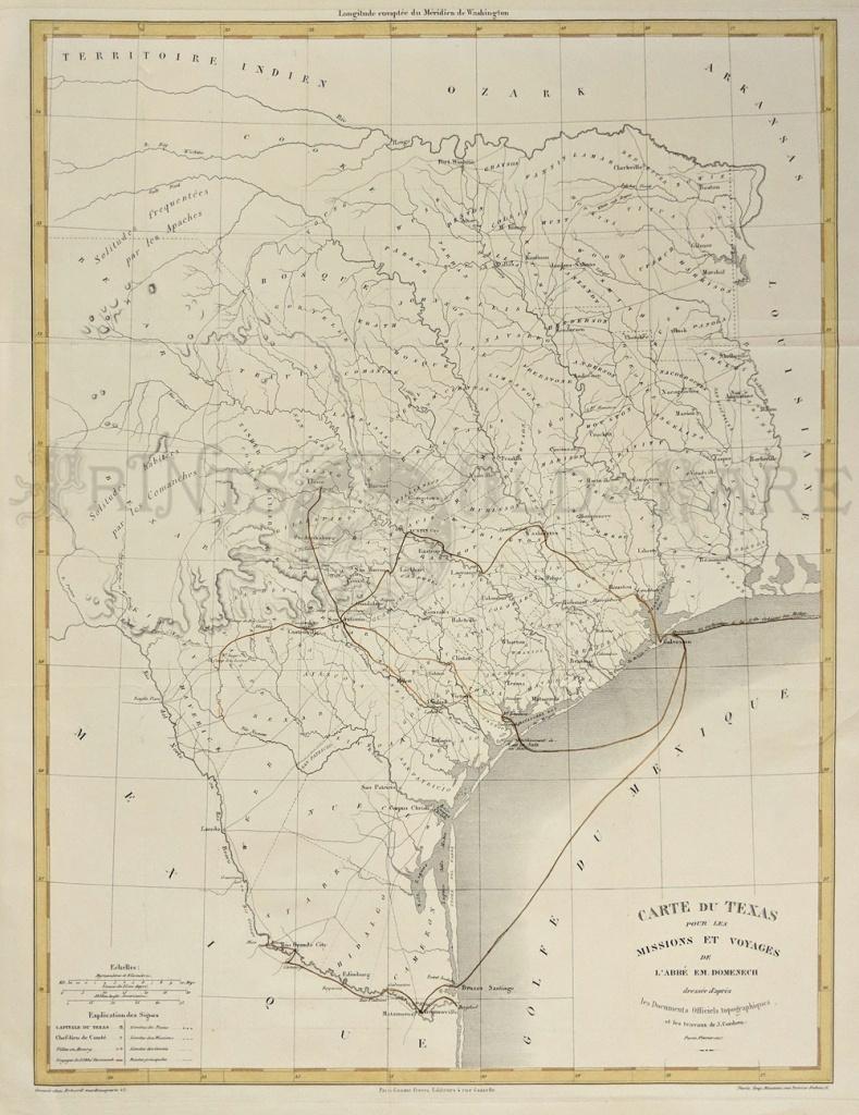 Prints Old & Rare - Texas - Antique Maps & Prints - Vintage Texas Map Prints
