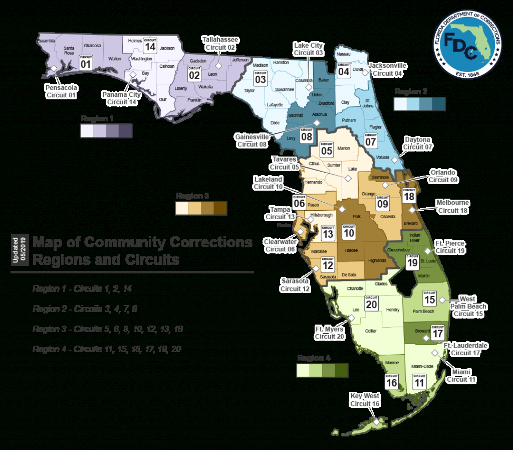 Probation Services -- Florida Department Of Corrections - Map Of Sexual Predators In Florida