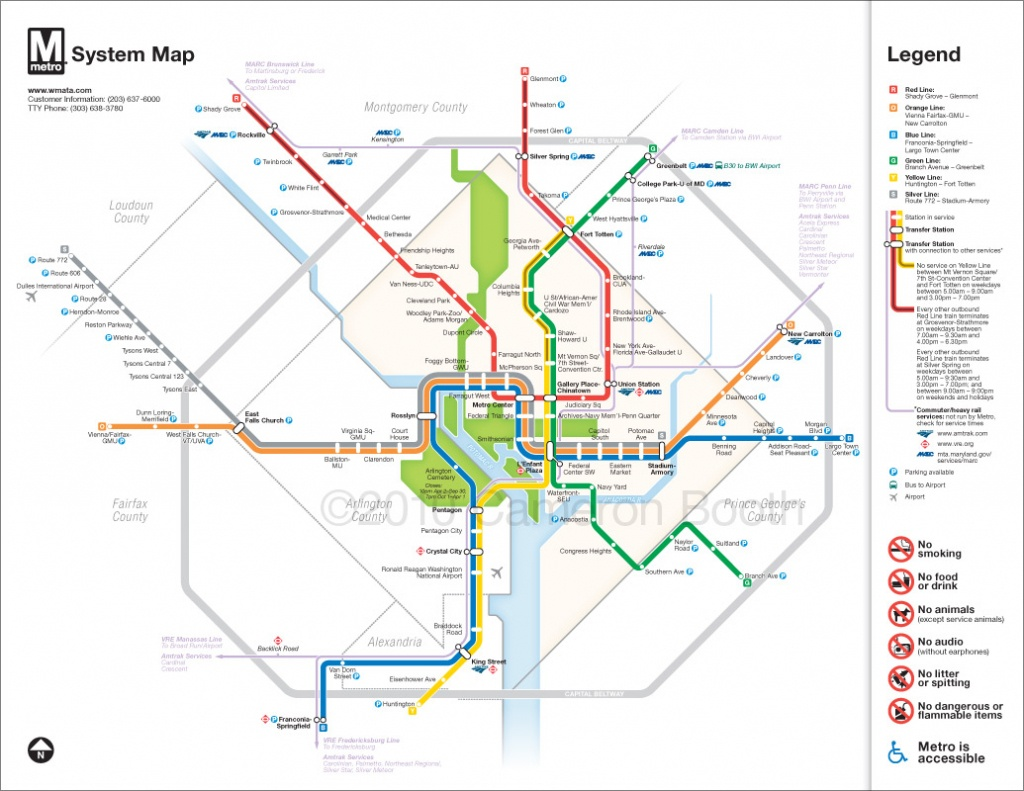 Project: Washington Dc Metro Diagram Redesign – Cameron Booth - Printable Dc Metro Map