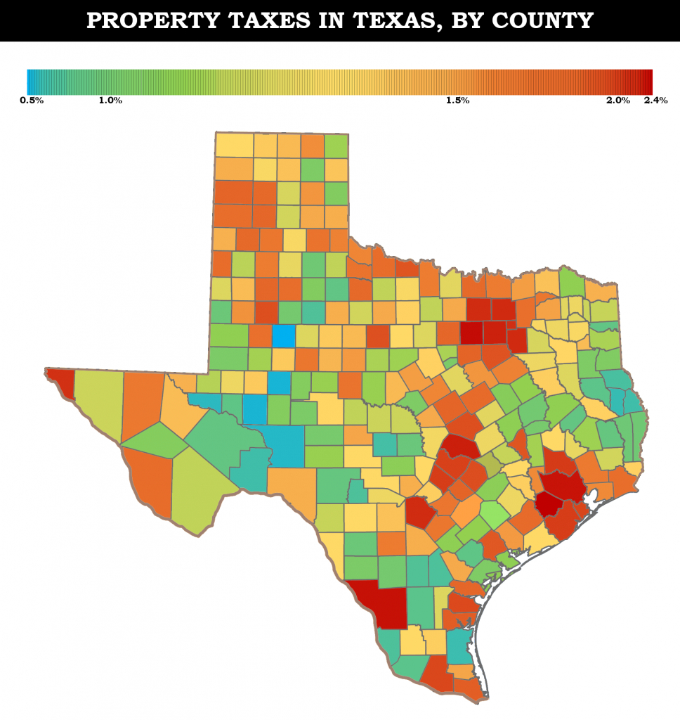 Property Taxes In Texas   Maps - Texas Property Tax Map