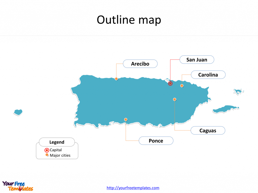 Puerto Rico Map Download - Free Powerpoint Templates - Free Printable Map Of Puerto Rico