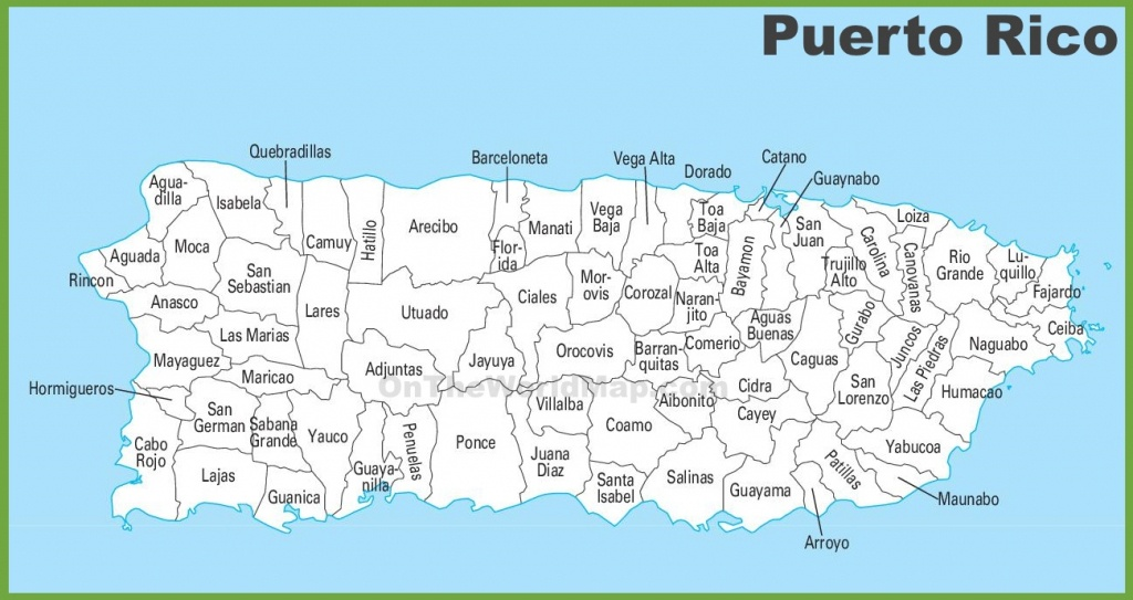 Puerto Rico Maps | Maps Of Puerto Rico - Free Printable Map Of Puerto Rico