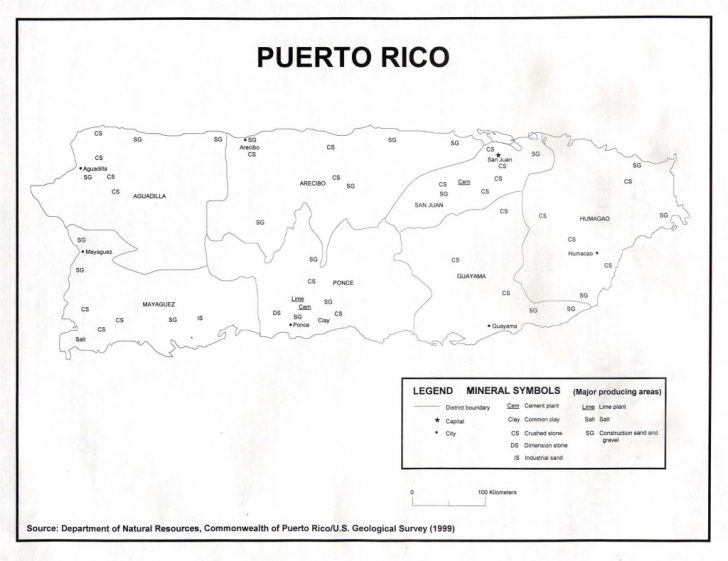 Outline Map Of Puerto Rico Printable