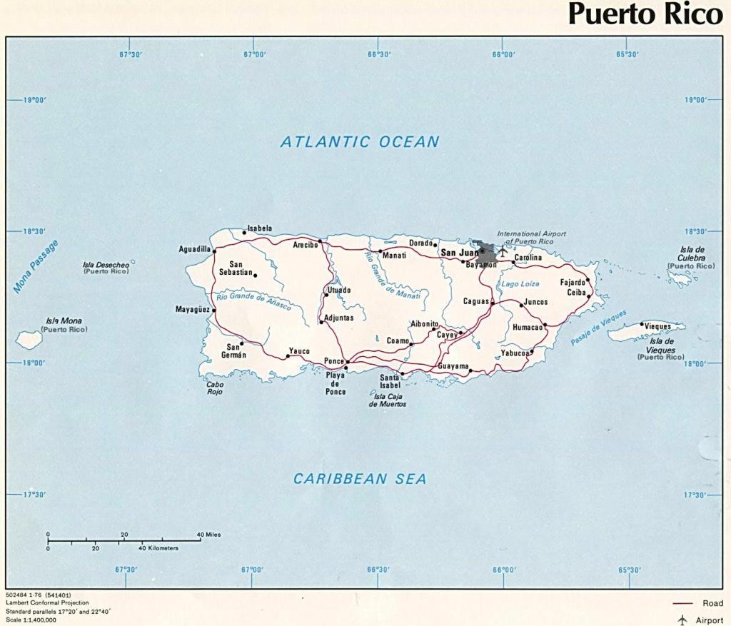 Puerto Rico Maps | Printable Maps Of Puerto Rico For Download - Free Printable Map Of Puerto Rico