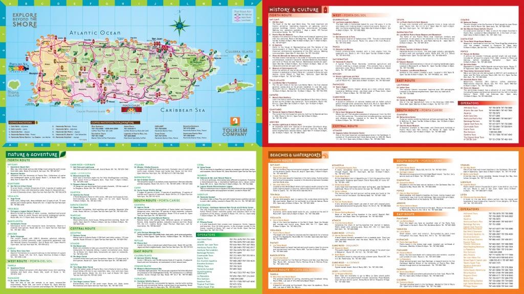 Puerto Rico Tourist Map - Free Printable Map Of Puerto Rico