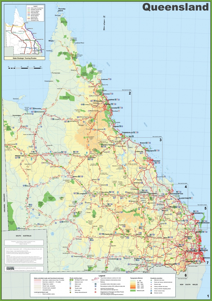 Queensland State Maps | Australia | Maps Of Queensland (Qld) - Printable Map Of Queensland