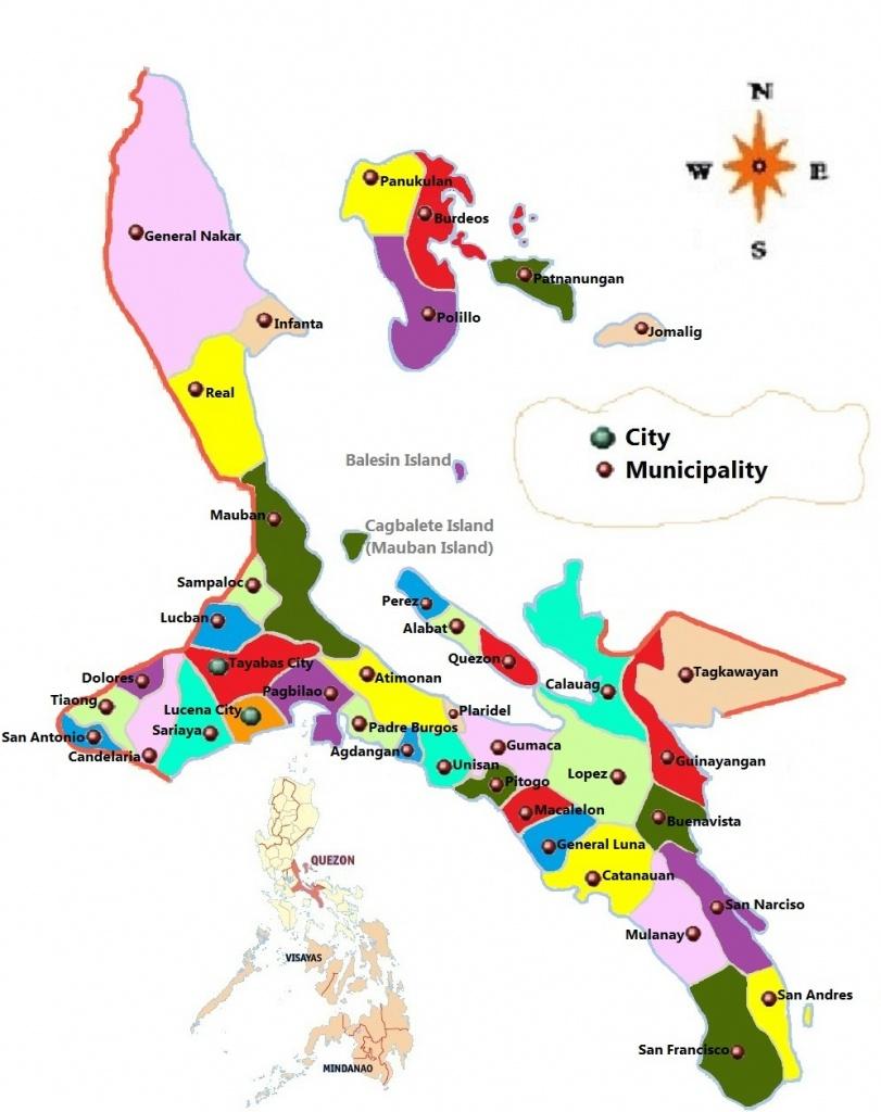 Quezon Philippines Map | Time Zones Map - Printable Quezon Province Map
