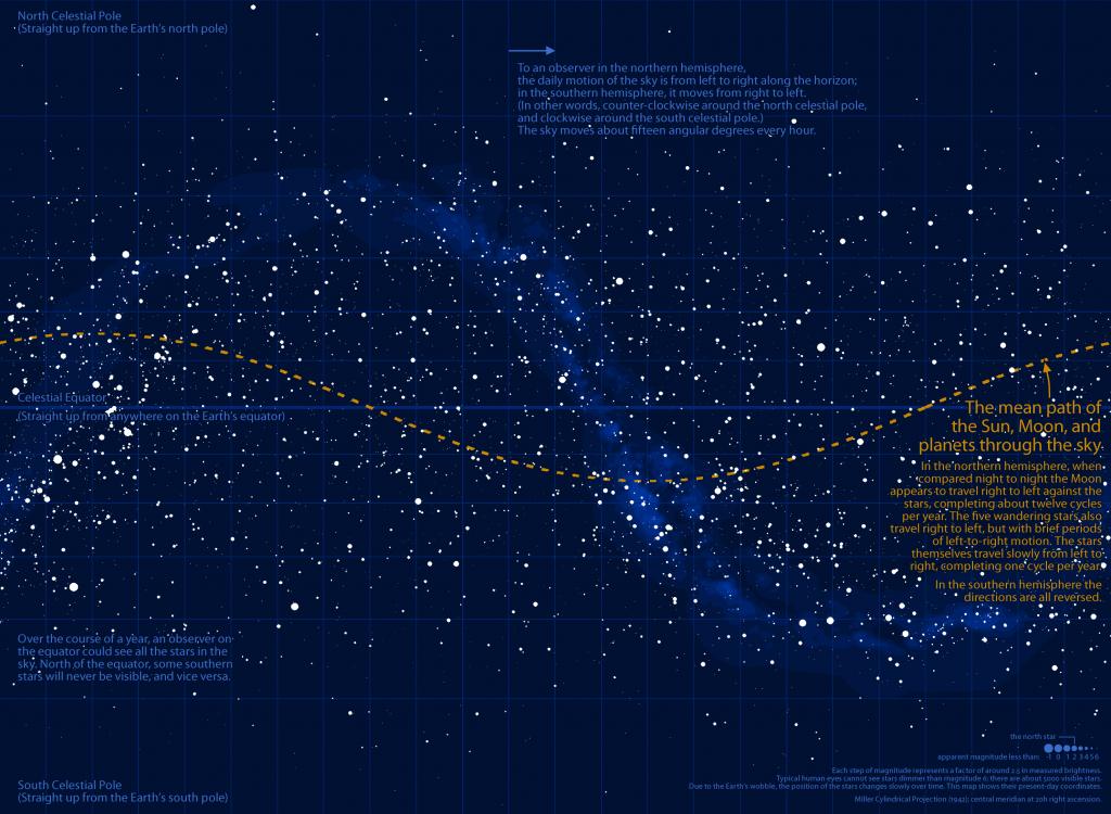 Radicalcartography - Texas Night Sky Map