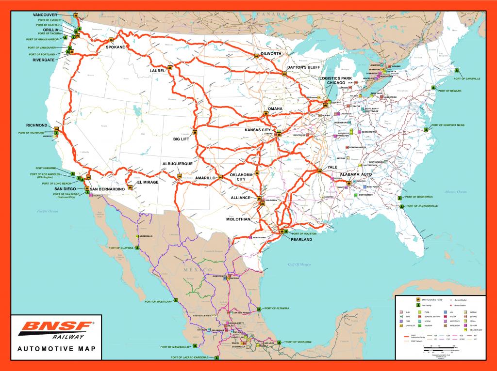 Rail Network Maps   Bnsf - Texas State Railroad Route Map
