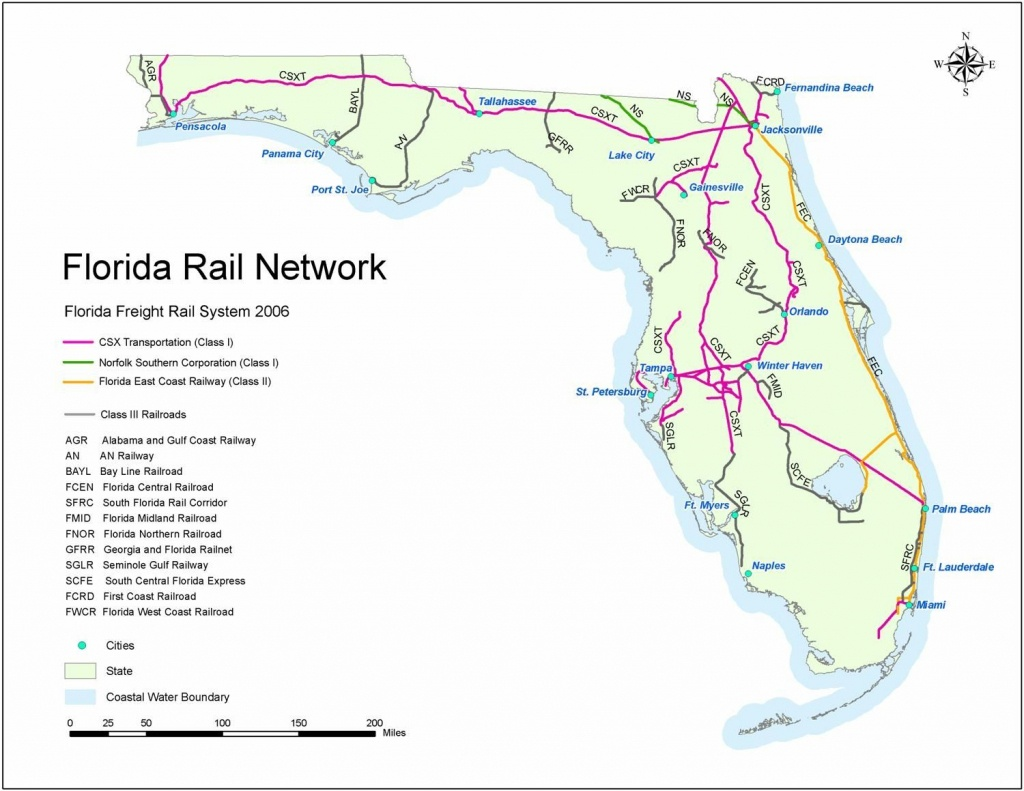 Rail Systems | Florida | Map, Florida Traffic, Rest Area - Florida Rest Areas Map