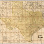 Railroad And County Map Of Texas   David Rumsey Historical Map   Texas Map Wallpaper