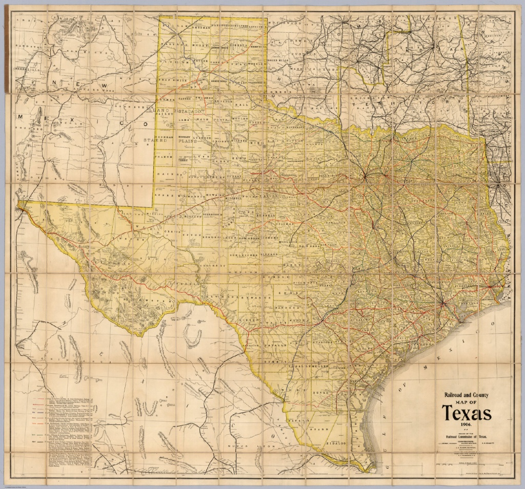 Railroad And County Map Of Texas - David Rumsey Historical Map - Texas Map Wallpaper