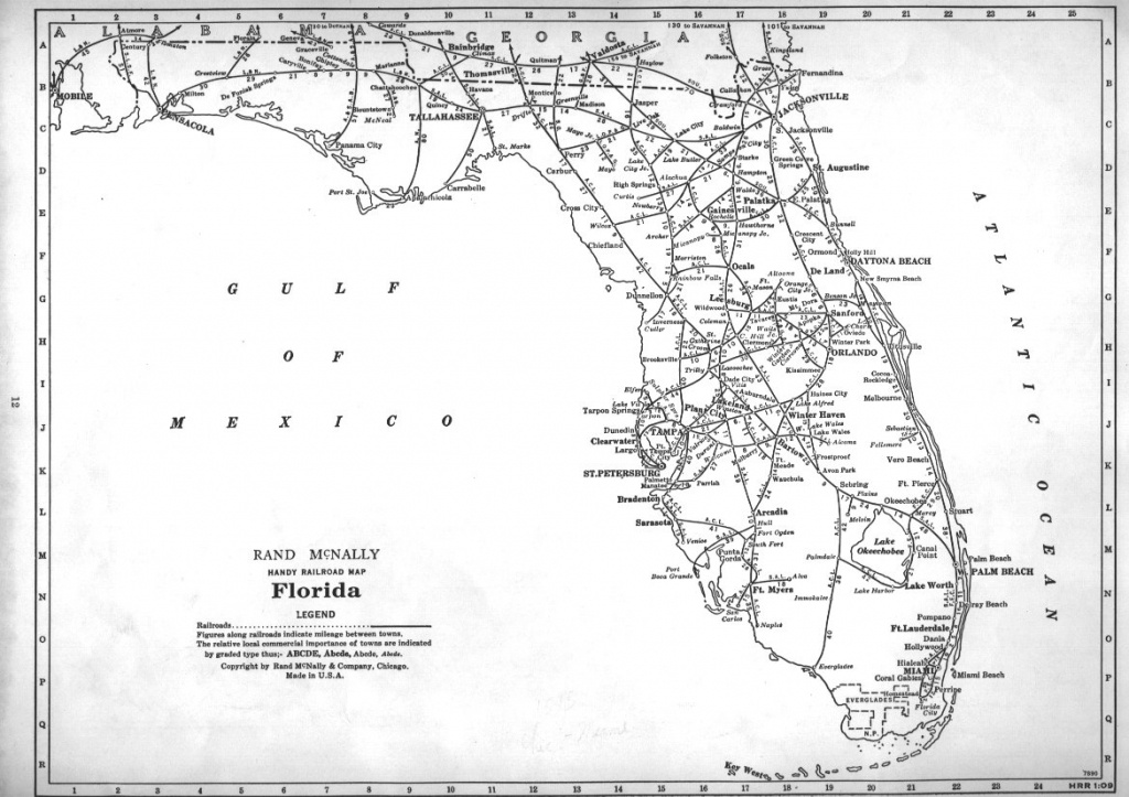 Railroad Map Of Florida From 1948Rand Mcnally : Mapporn - Florida Railroad Map