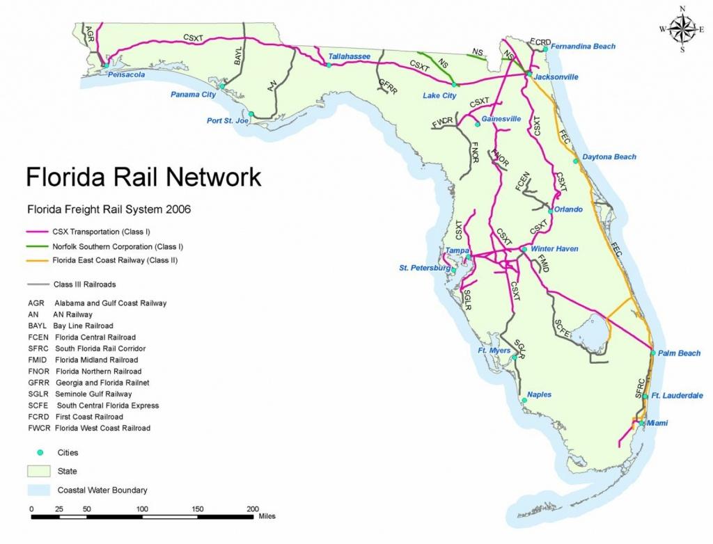 Railroad Map Of Florida   Shamanichorsework - Florida Railroad Map