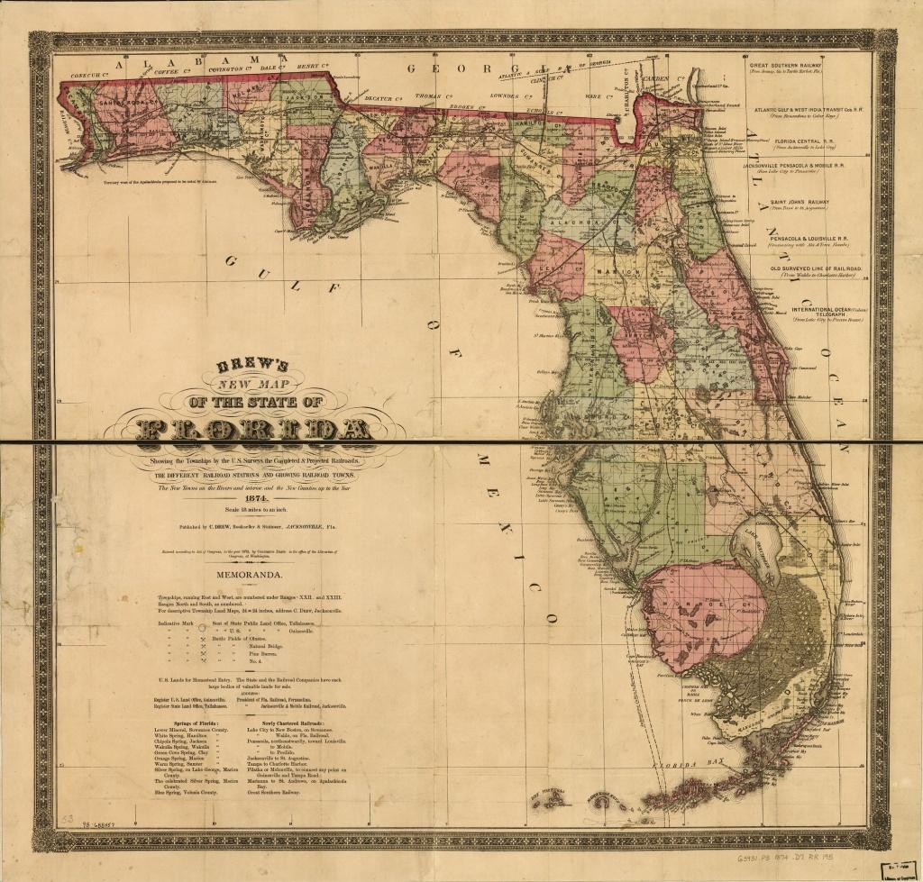 Railroad Maps, 1828 To 1900, Florida   Library Of Congress - Florida Railroad Map