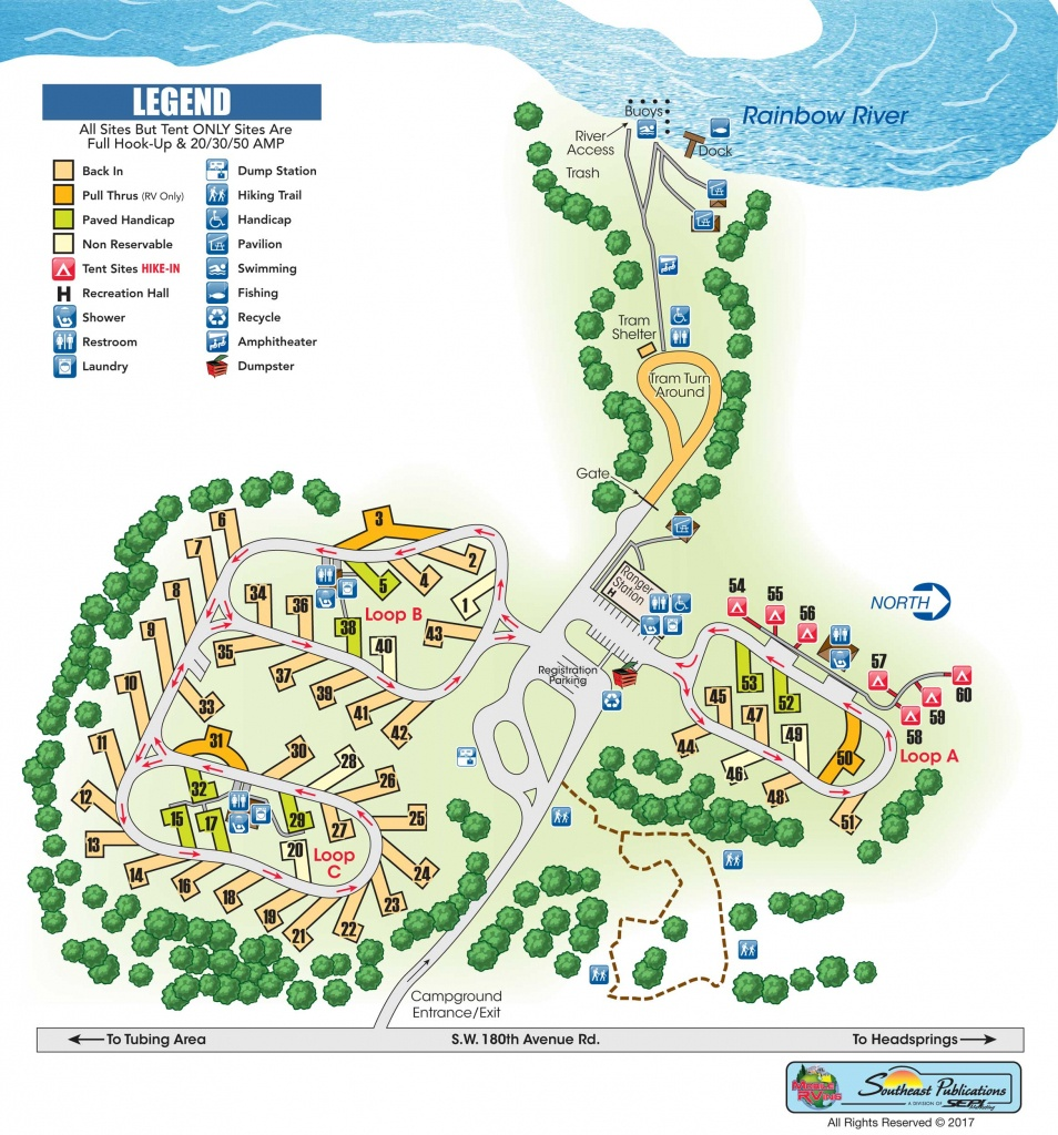 Rainbow Springs State Park - Know Your Campground - Florida Tent Camping Map