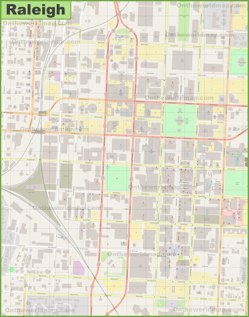 Raleigh Downtown Map - Printable Map Of Downtown Raleigh Nc