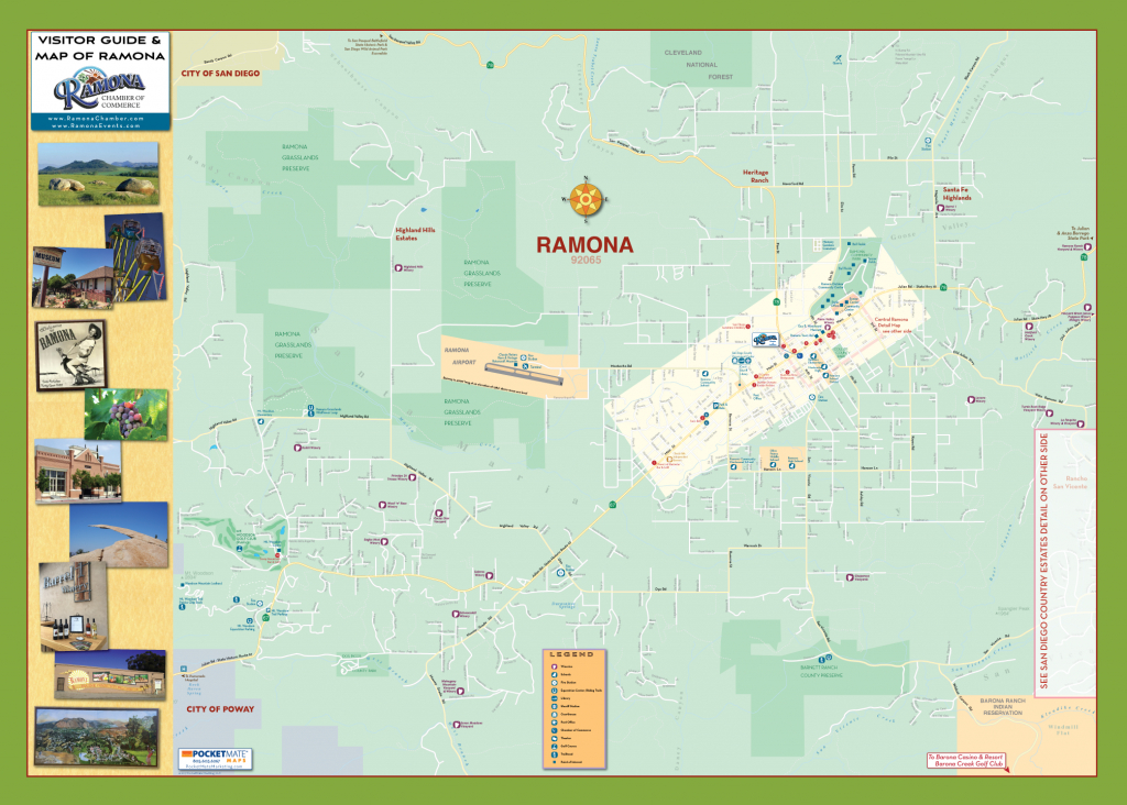 Ramona Community Map – Ramona Chamber Of Commerce - Ramona California Map