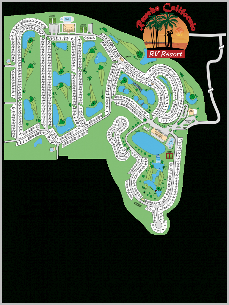 Rancho California   Temecula Realty, Inc. - Rancho California Rv Resort Site Map