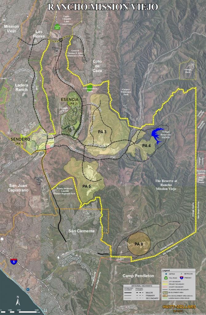 Rancho Mission Viejo Aerial Map   Rancho Mission Viejo   Mission - Mission Viejo California Map