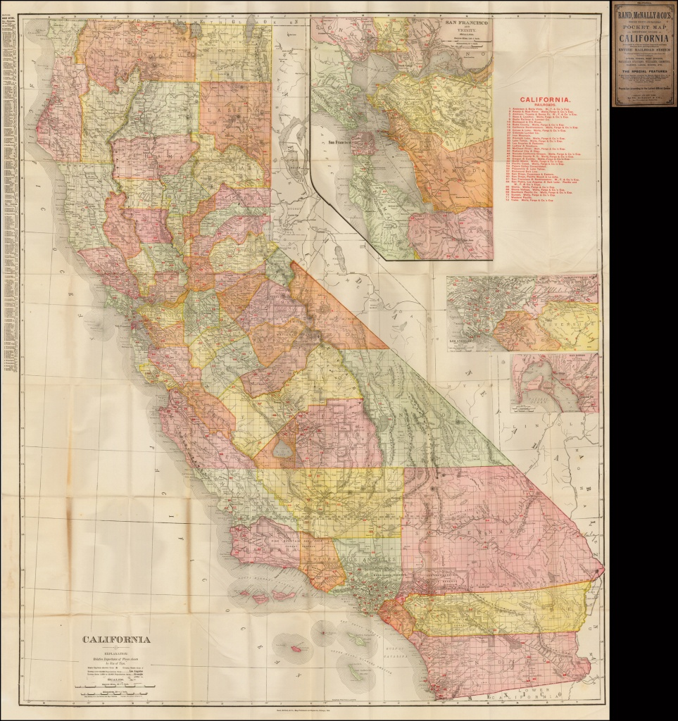 Rand, Mcnally & Co.'s Indexed County And Railroad Map And Shipper's - Rand Mcnally California Map