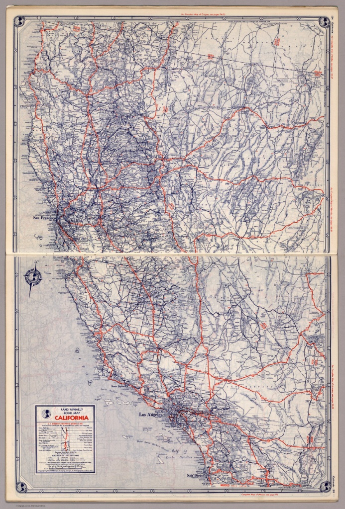 Rand Mcnally Road Map: California - David Rumsey Historical Map - Rand Mcnally California Map