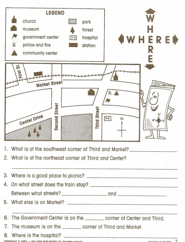 Reading Maps Worksheet Free Worksheets Library Download And - 6Th Grade Map Skills Worksheets Printable
