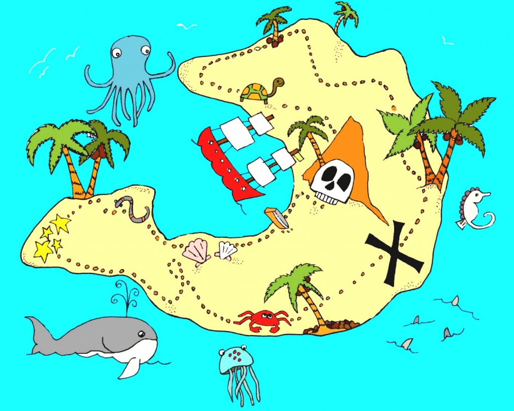 Real Treasure Maps Found Clipart Animals Cliparts With Hot - Clipartpost - Printable Kids Pirate Treasure Map